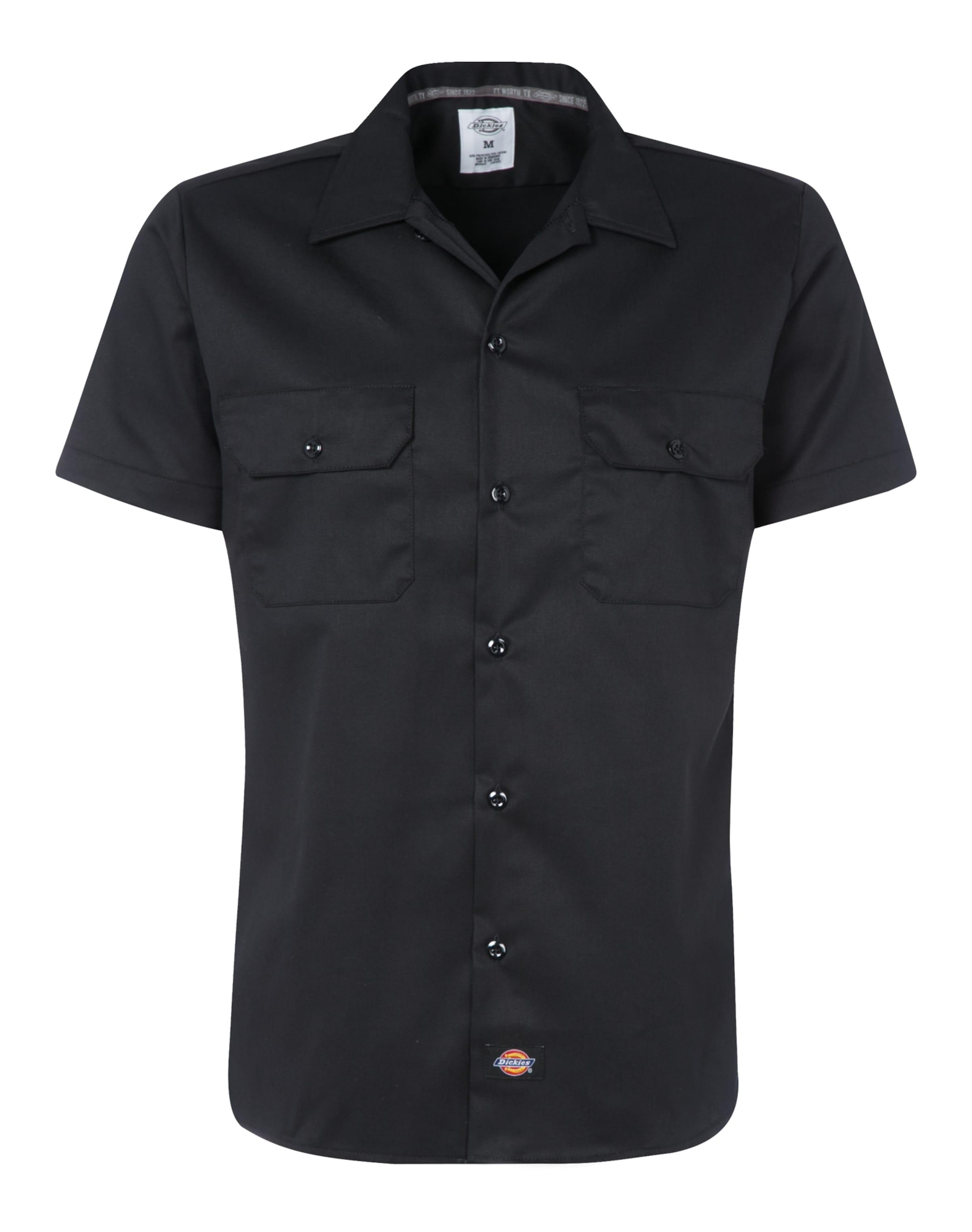 In Ws576 Dickies Hemd Slim Shirt Schwarz PuXZkTOwil