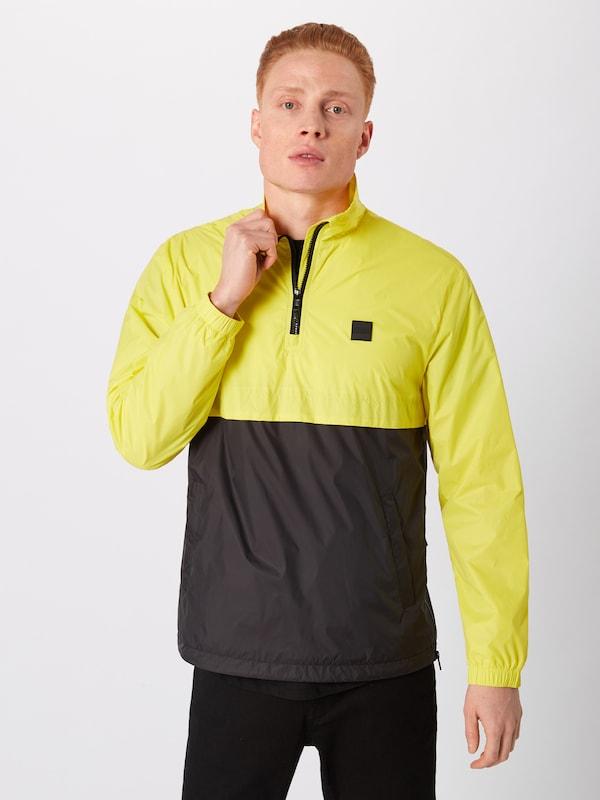 Jaune saison Jacket' En Pull Over Up Veste Mi Collar Urban Classics 'stand ikXuOPZ