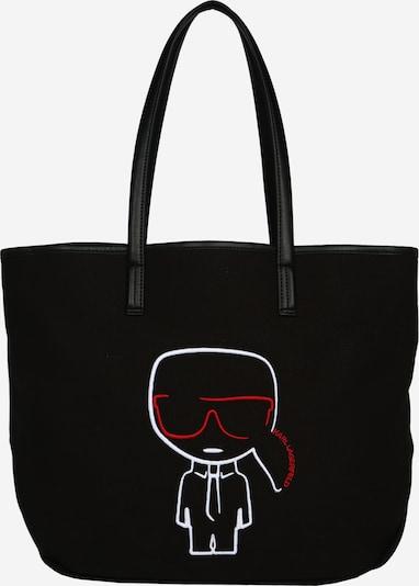 Karl Lagerfeld Cabas en rouge / noir / blanc, Vue avec produit