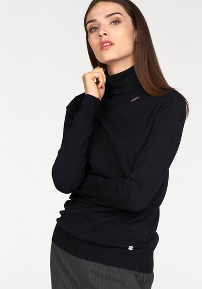 BRUNO BANANI Rollkragenpullover in schwarz, Modelansicht