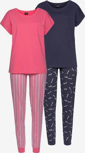 VIVANCE Pyjama in blau / pink, Produktansicht