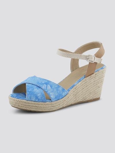 TOM TAILOR Shoes Sandalette mit Keilabsatz in blau, Produktansicht