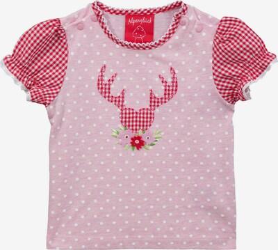 BONDI Shirt in rosa / rot / weiß, Produktansicht
