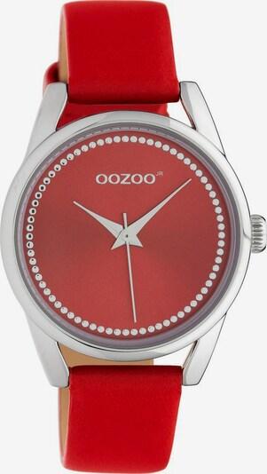 OOZOO Uhr in rot / silber, Produktansicht