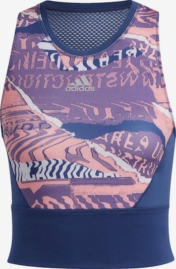 ADIDAS PERFORMANCE Top sportowy w kolorze nakrapiany niebieski / jasnoróżowym, Podgląd produktu