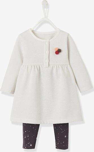 VERTBAUDET Set Jerseykleid + Leggings in weiß, Produktansicht