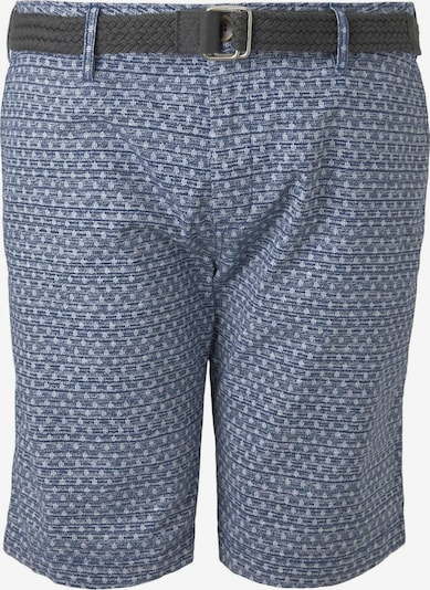 TOM TAILOR Men Plus Shorts in blau / weiß, Produktansicht