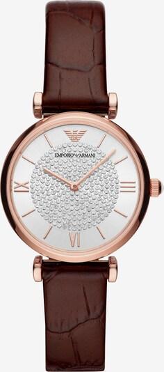 Emporio Armani Uhr in pueblo / gold / weiß, Produktansicht