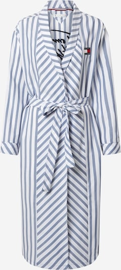 Tommy Hilfiger Underwear Ochtendjas 'ROBE' in de kleur Duifblauw / Wit, Productweergave