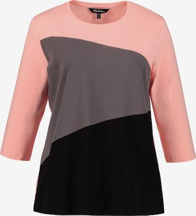 Ulla Popken Shirt in graumeliert / rosa / schwarz, Produktansicht