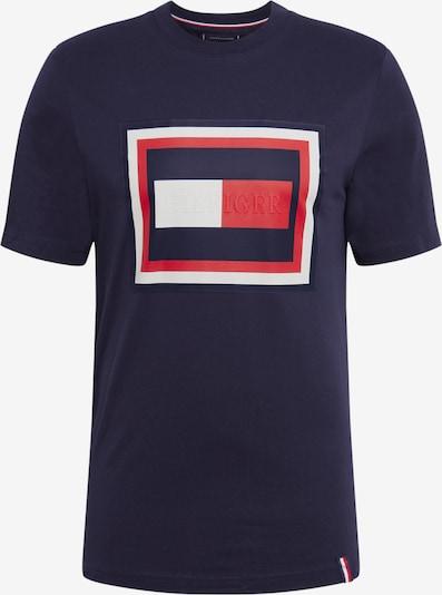 TOMMY HILFIGER T-Shirt 'HILFIGER FRAME RELAXED FIT TEE' in dunkelblau / rot / weiß, Produktansicht