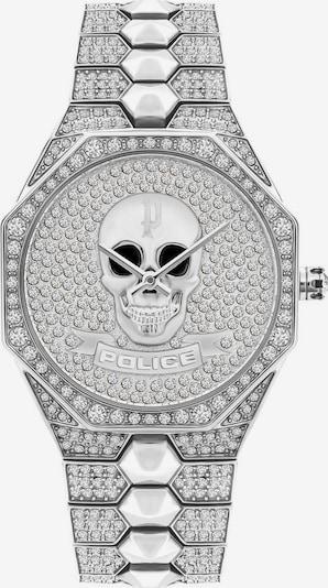 POLICE Uhr in silber / transparent, Produktansicht
