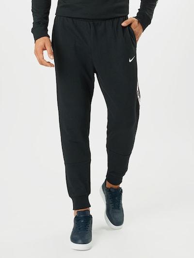 Nike Sportswear Hose 'REPEAT' in schwarz / weiß: Frontalansicht