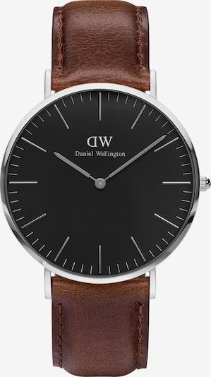 Daniel Wellington Uhr 'Classic Black Bristol' in braun / schwarz / silber, Produktansicht