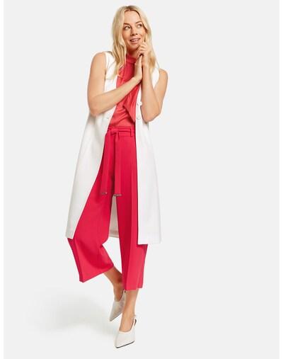 TAIFUN Weste Indoor lange elegante Longweste in weiß, Modelansicht