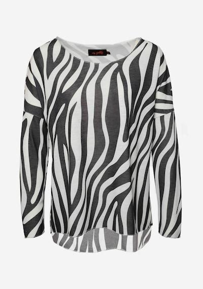 miss goodlife Longsleeve 'Zebra' in schwarz / weiß, Produktansicht