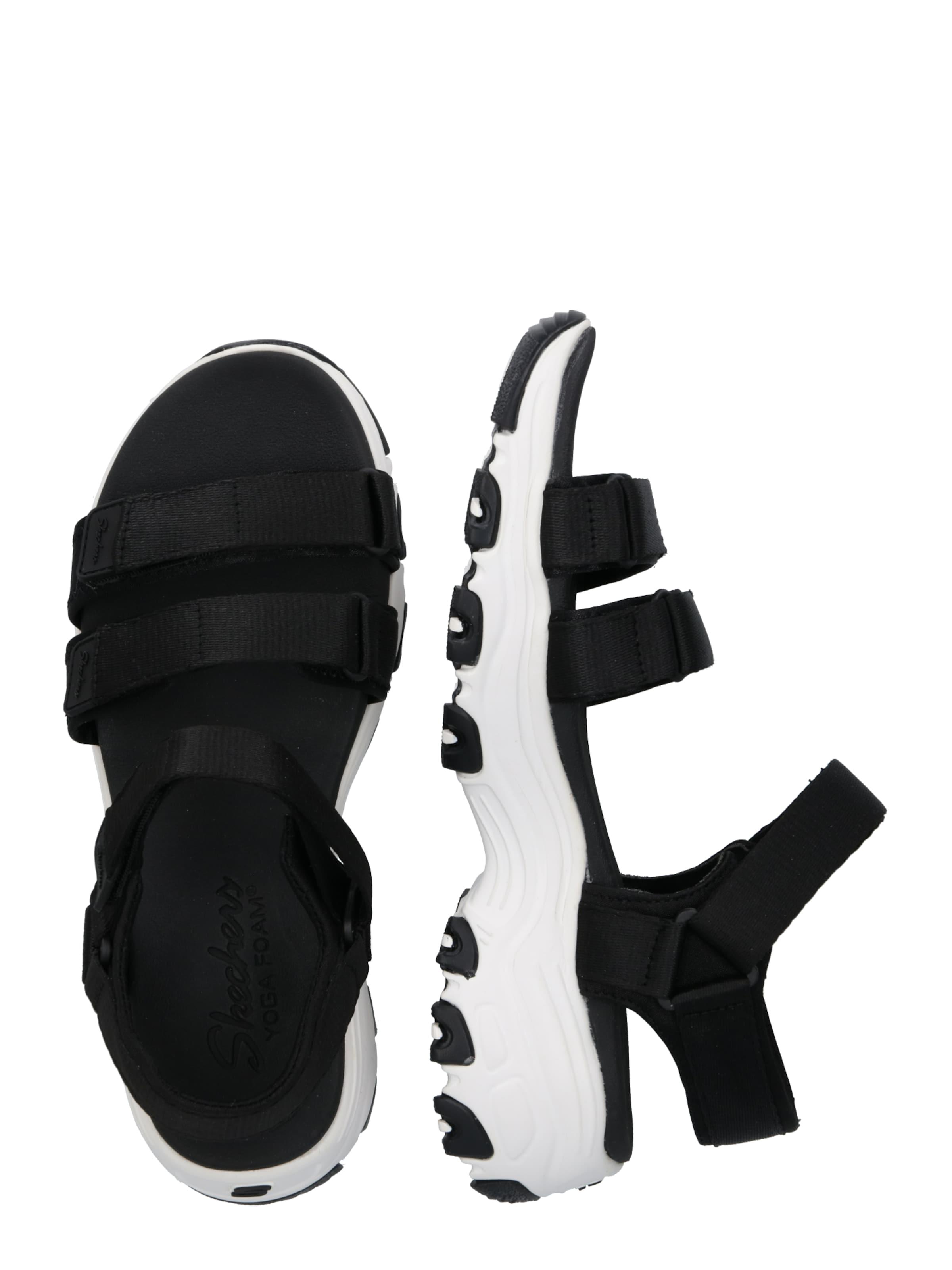 SchwarzWeiß Skechers Skechers Sandale In In Sandale SchwarzWeiß In Skechers Sandale SchwarzWeiß kZiuOPX