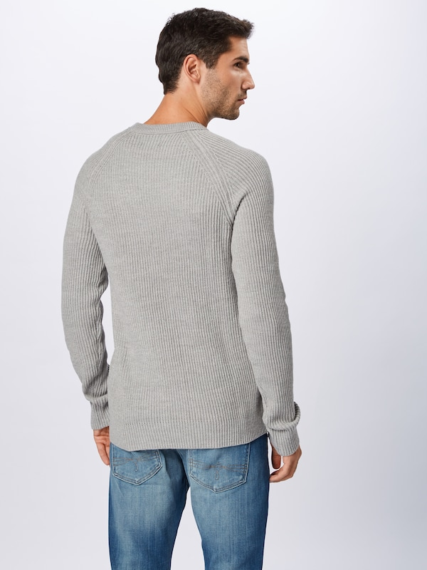 JACK & JONES Pullover 'PANNEL' in grau: Rückansicht