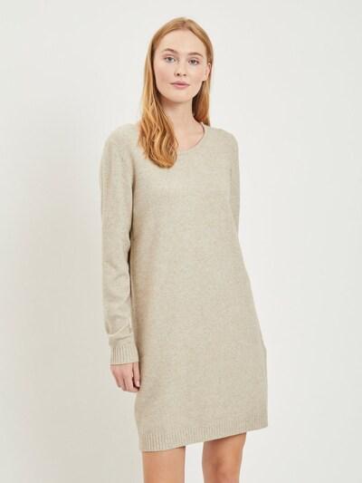 VILA Strickkleid in beige, Modelansicht
