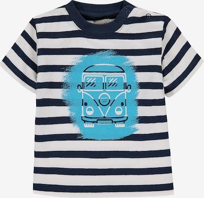 KANZ T-Shirt in nachtblau / hellblau / weiß, Produktansicht