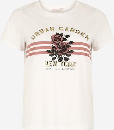 ONLY Carmakoma Majica | rdeča / bela barva, Prikaz izdelka