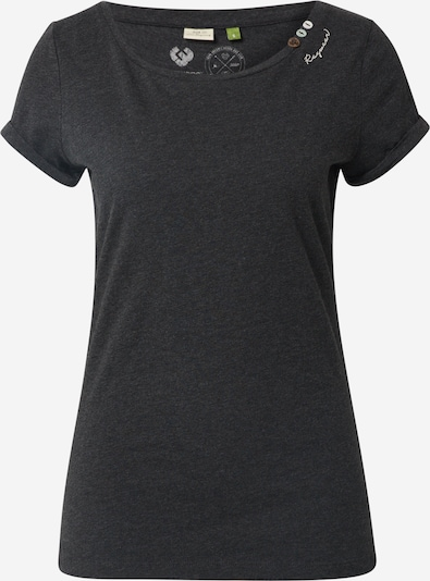 Ragwear T-shirt 'FLORAH' en noir, Vue avec produit