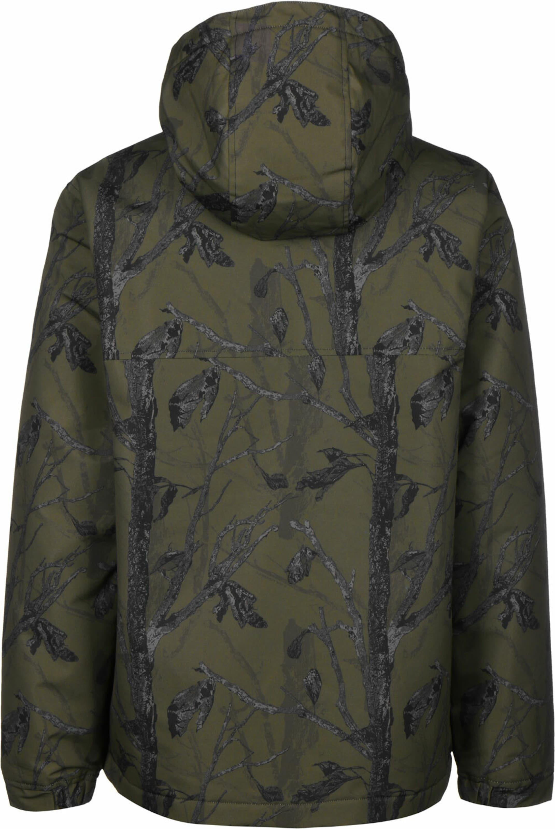 Carhartt WIP Winterjacke ' Nimbus ' in grün / schwarz Camouflage KJ54948250