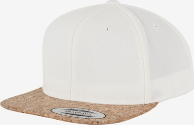 Flexfit Snapback 'Cork' in hellbraun / weiß, Produktansicht