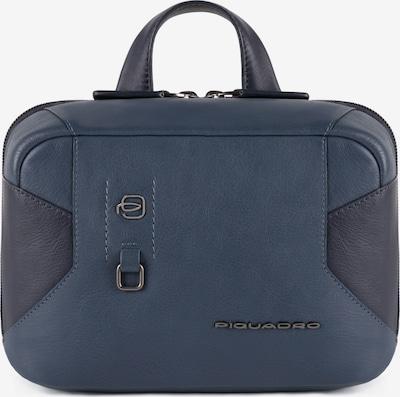Piquadro Kulturbeutel Leder 23 cm in taubenblau, Produktansicht