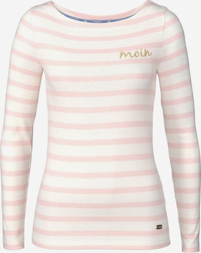 Tom Tailor Polo Team Langarmshirt in rosa / naturweiß: Frontalansicht