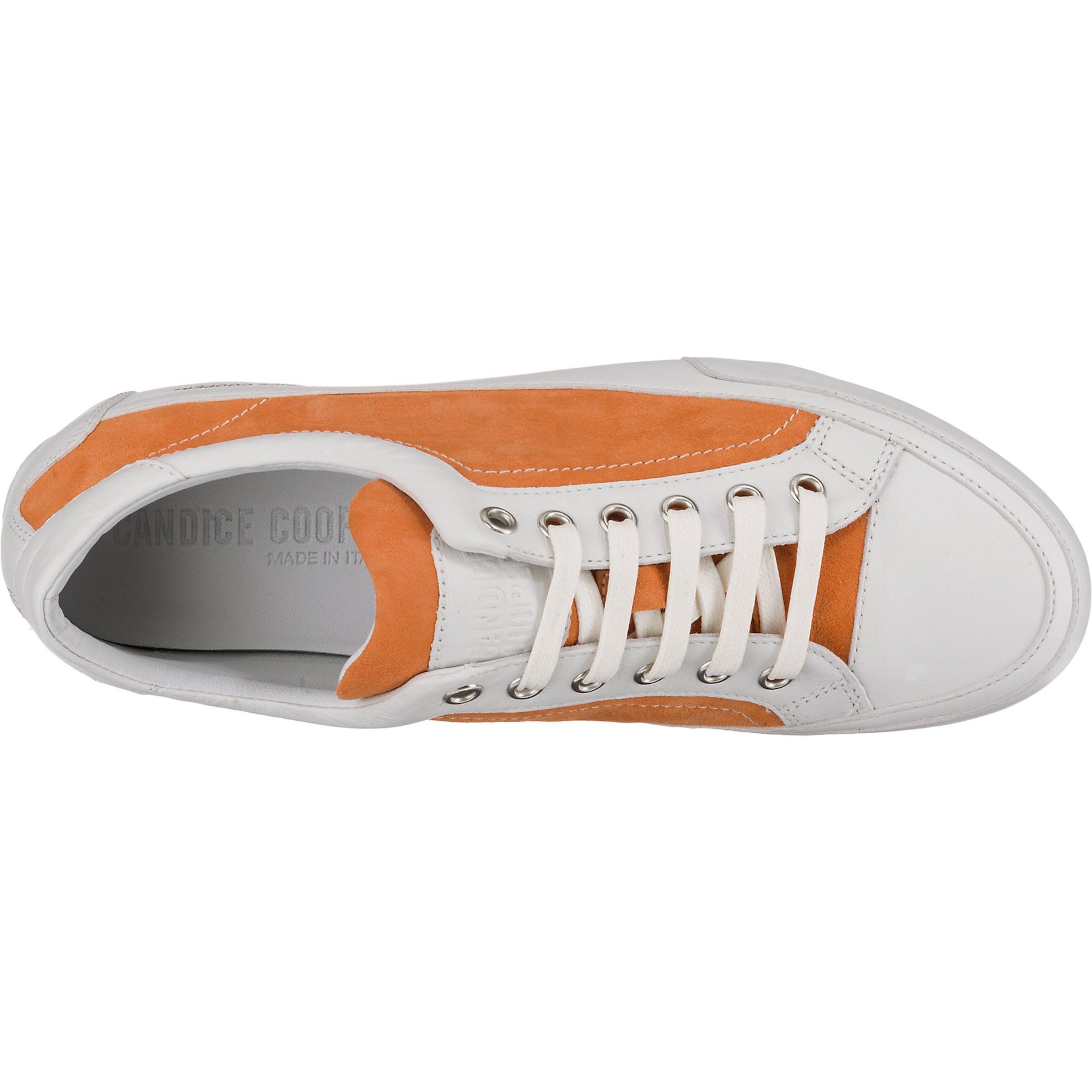 Sneakers Candice Low OrangeWeiß In Cooper PZTXuOki