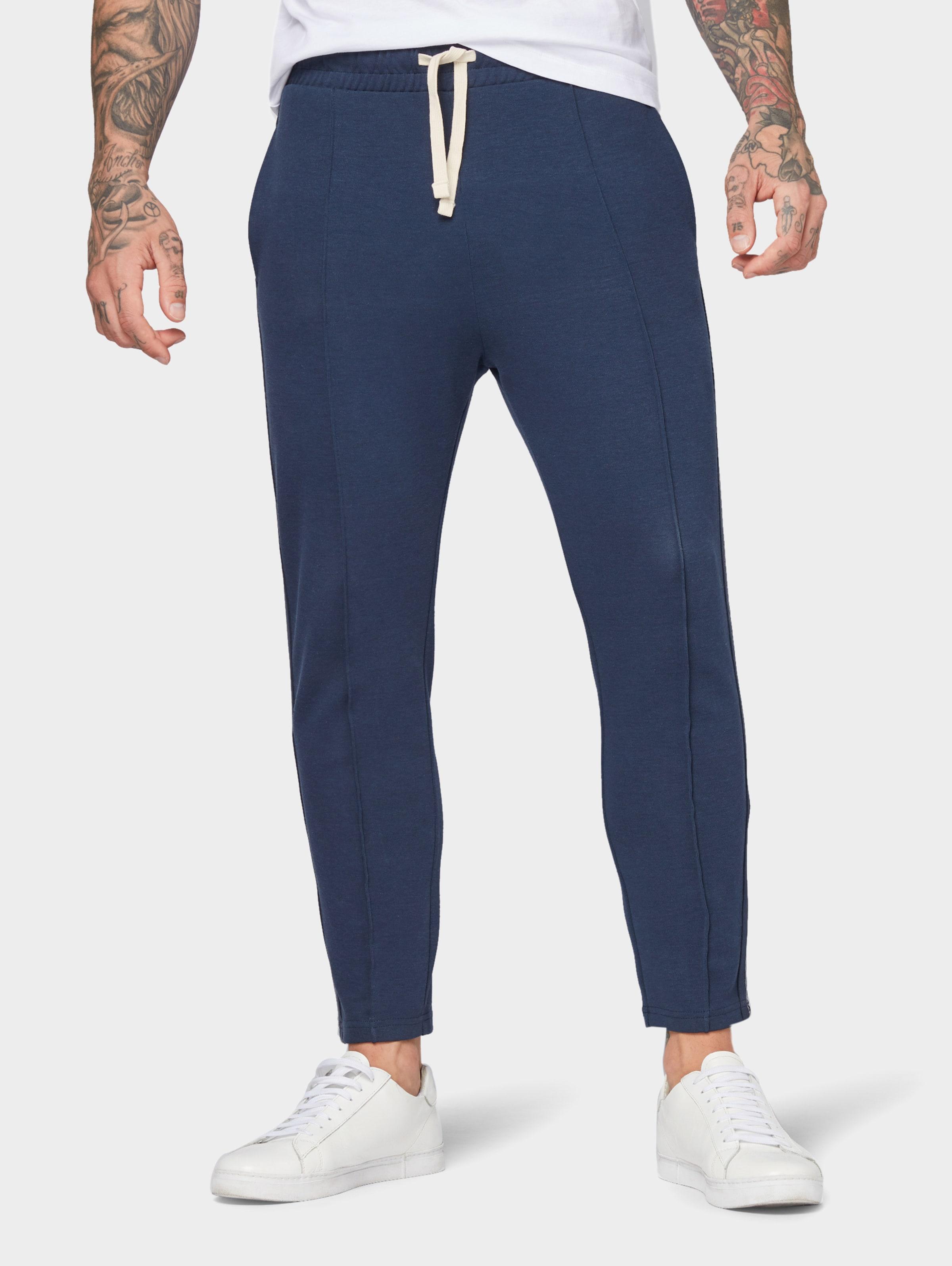 Sweathose Tape In Tailor Tom Denim details Nachtblau Mit 0wOnkX8P