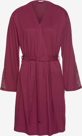 LASCANA Robe de chambre en bordeaux, Vue avec produit