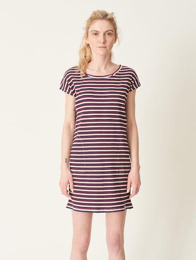 Cleptomanicx Kleid in nachtblau / rot / weiß: Frontalansicht