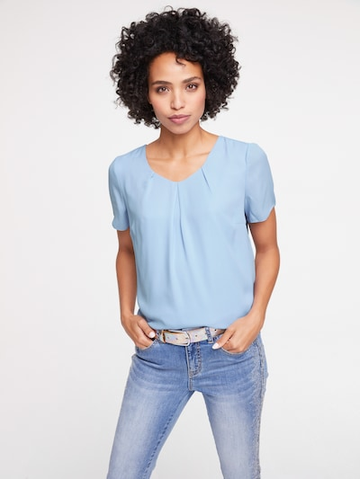 heine Bluse 'Two-In-One' in hellblau, Modelansicht