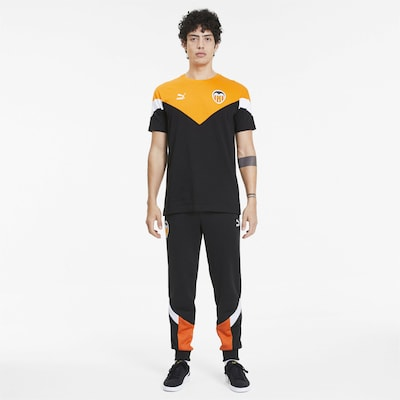 PUMA Herrenhose ˋValencia CF´ in orange / schwarz / weiß: Frontalansicht