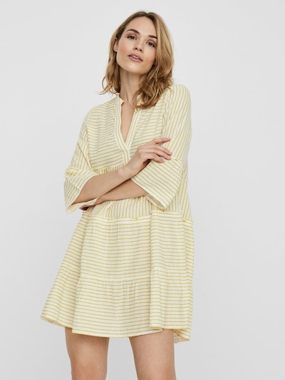 VERO MODA Šaty - žlutá / bílá, Model/ka