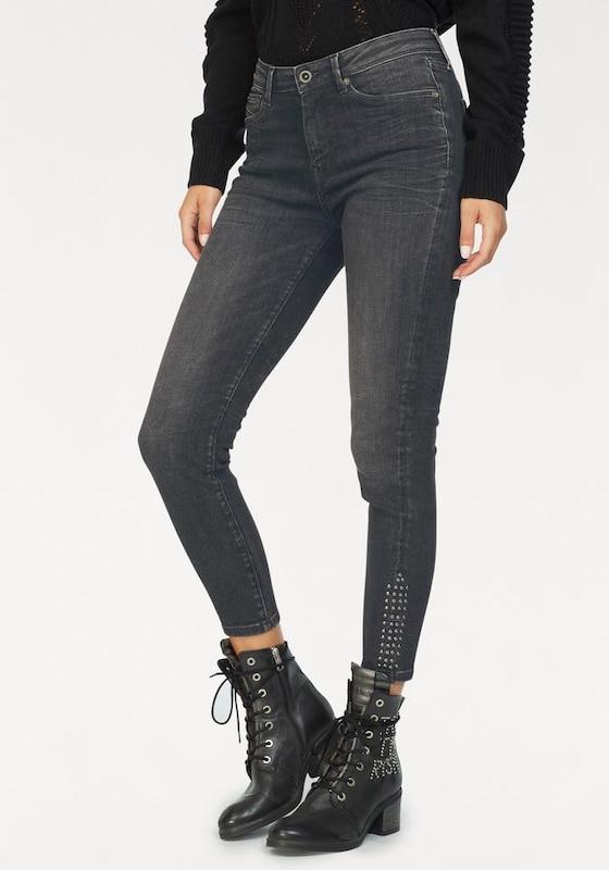 Jean 'cher Pepe Studs' Jeans High Gris Denim En QrCxdtsh