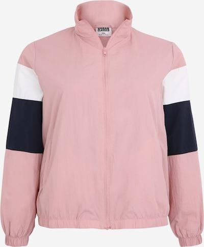 Urban Classics Curvy Jacke in rosa / schwarz / weiß, Produktansicht