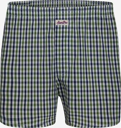 Sugar Pine Boxershorts 'Classic Check' in hellgrün / weiß, Produktansicht