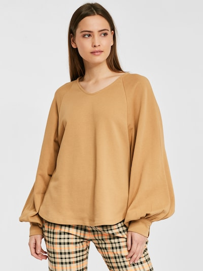 SoSUE Sweatshirt in beige: Frontalansicht