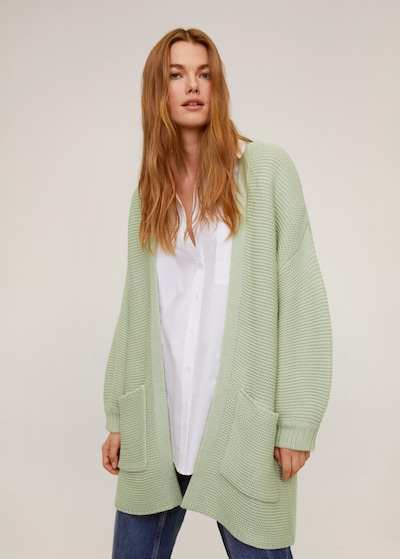 MANGO Strickjacke in mint, Modelansicht