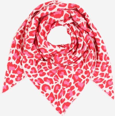 Zwillingsherz Tuch  'Summer Lacey ' in pink / rot / weiß, Produktansicht