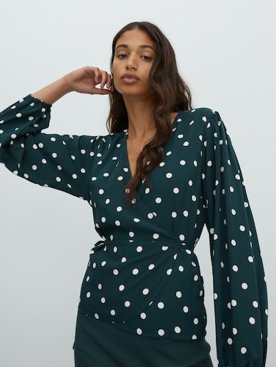 EDITED Bluza 'Papina' u zelena / bijela, Prikaz modela