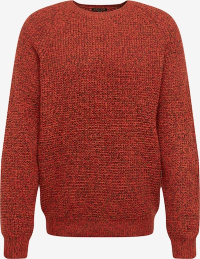Review Pullover 'MULTICOLOR KNIT' in navy / cognac / rot, Produktansicht