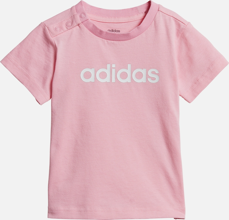 ADIDAS PERFORMANCE T-Shirt 'Lin' in rosa / weiß: Frontalansicht