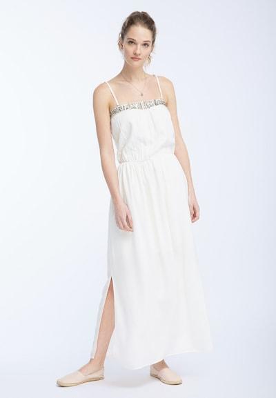 DREIMASTER Kleid in gold / weiß, Modelansicht