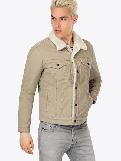 LEVI'S Prehodna jakna 'TYPE 3 SHERPA TRUCKER' | temno bež barva, Prikaz modela
