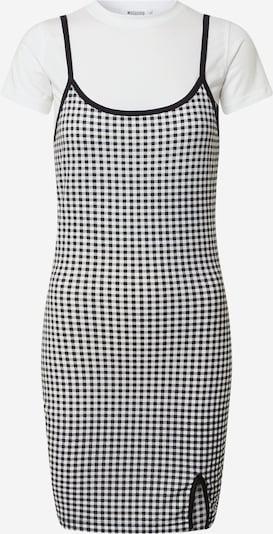 Missguided Robe 'GINGHAM' en noir / blanc, Vue avec produit
