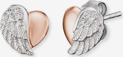 Engelsrufer Ohrstecker 'Herzflügel' in rosegold / silber, Produktansicht
